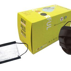 南六醫用口罩-平面成人黑(兩盒)